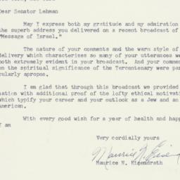 Letter : 1954 October 18