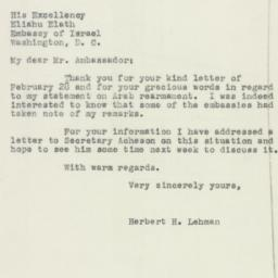 Letter : 1950 March 4
