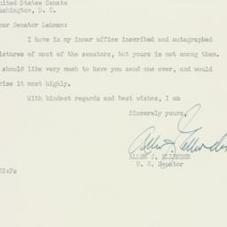 Letter : 1950 October 21