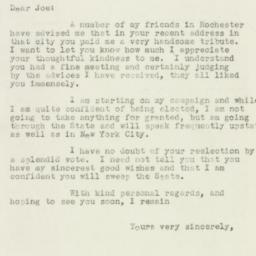 Letter : 1932 October 15