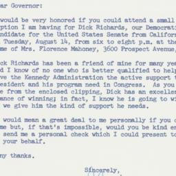 Letter : 1962 July 30