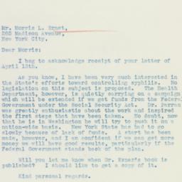 Letter : 1936 April 18