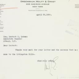 Letter : 1936 April 23