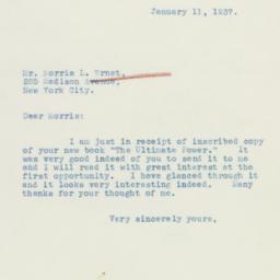 Letter : 1937 January 11
