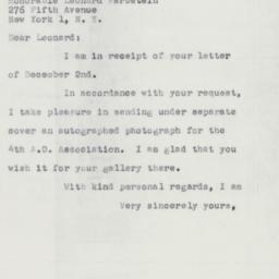 Letter : 1953 December 7