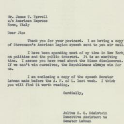 Letter : 1952 September 20