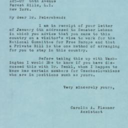 Letter : 1951 January 9