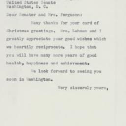 Letter : 1953 December 22