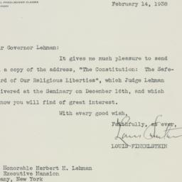 Letter : 1938 February 14