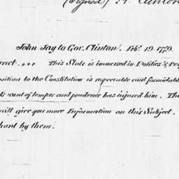 Document, 1779 February 19