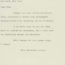 Letter: 1949 October 24