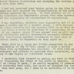 Letter: 1950 February 28