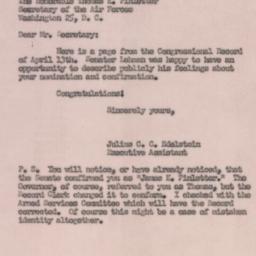 Letter: 1950 April 18