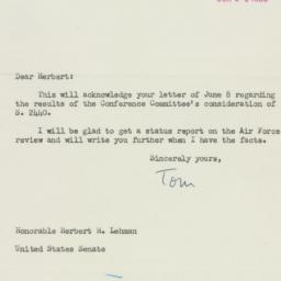 Letter: 1950 June 14