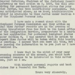 Letter : 1950 December 26