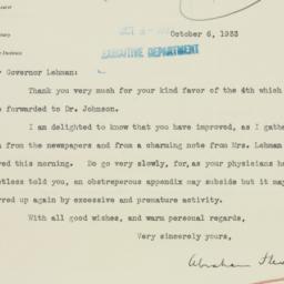 Letter : 1933 October 6