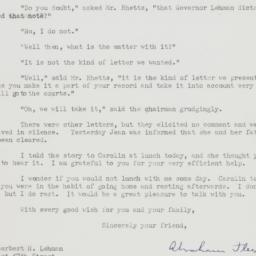 Letter : 1948 November 16