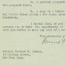 Letter : 1926 May 5