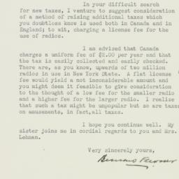 Letter : 1933 January 28