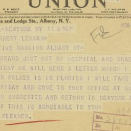 Telegram : 1936 March 11