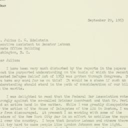Letter : 1953 September 29