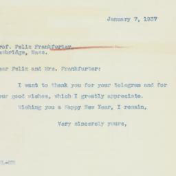 Letter: 1937 January 7