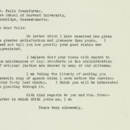 Letter: 1938 October 8