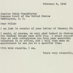 Letter: 1946 February 2