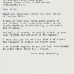 Letter: 1960 October 31