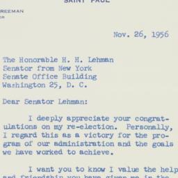 Letter : 1956 November 26