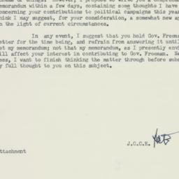 Memorandum : 1958 July 19