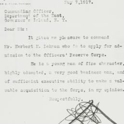 Letter : 1917 May 7