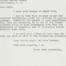 Letter : 1953 March 25