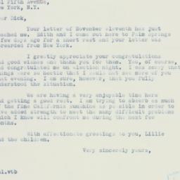 Letter : 1936 November 21