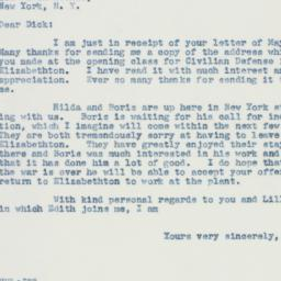 Letter : 1942 May 9