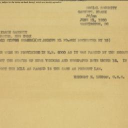 Telegram : 1950 June 21