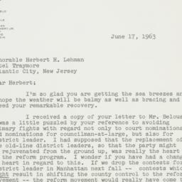 Letter : 1963 June 17