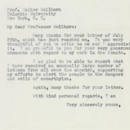 Letter : 1953 July 31