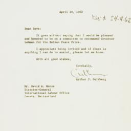 Letter : 1962 April 20