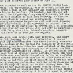 Letter : 1958 June 14