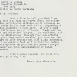 Letter: 1958 September 26