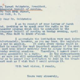 Letter : 1942 March 9