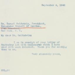 Letter: 1942 September 4