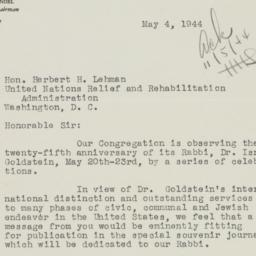 Letter : 1944 May 4