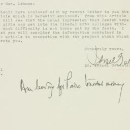 Letter: 1946 August 1