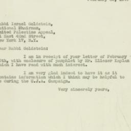 Letter: 1947 February 25