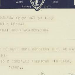 Letter : 1933 October 30