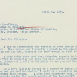 Letter : 1936 April 21