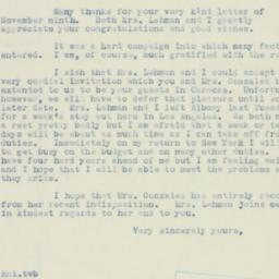 Letter : 1938 November 21