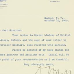 Letter : 1935 October 10
